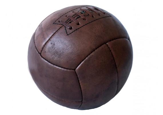 Ballon de foot en cuir véritable