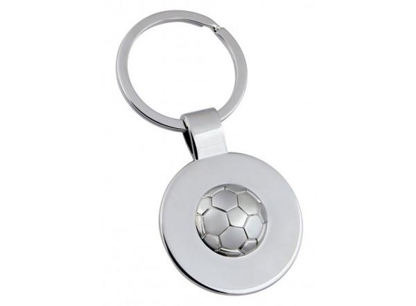 Porte-clé ballon de foot publicitaire en métal