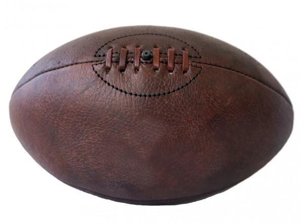 Ballon de rugby personnalis vintage ballon de rugby en cuir patin - Ballon de rugby cuir ...
