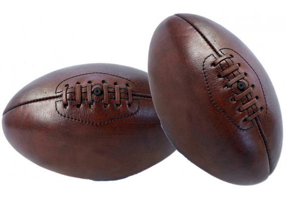 Mini-ballon rugby Old School Leather