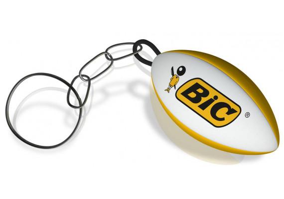 Porte-clé ballon de rugby publicitaire