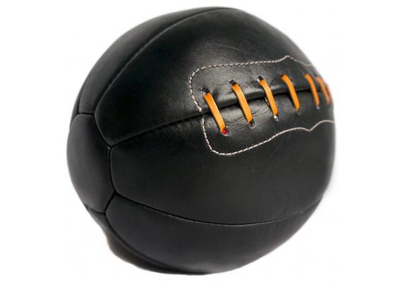Ballon de foot cuir noir