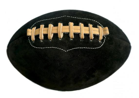 Ballon de rugby en daim noir