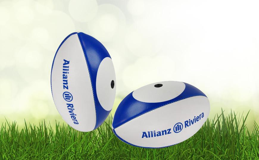 Mini ballon de rugby personnalis mini rugby publicitaire ballons publici - Ballon de rugby cuir ...